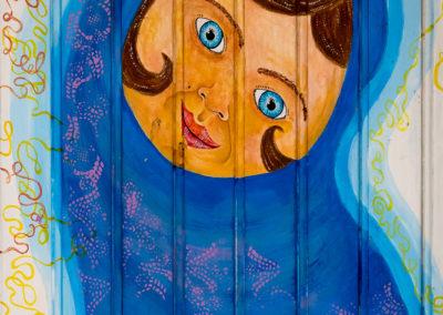 Porte peinte Île de Madeire Portugal
