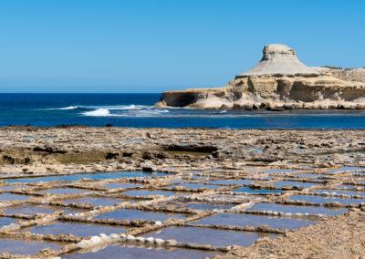 Marais salant Île de Gozo Malte
